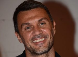 Former Italian football player Paolo Maldini attends a promotional event for a pop-up store of HerGallery and OFashion in Shanghai, China, 11 June 2018.